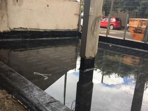 Teste de estanqueidade é feito após a impermeabilização