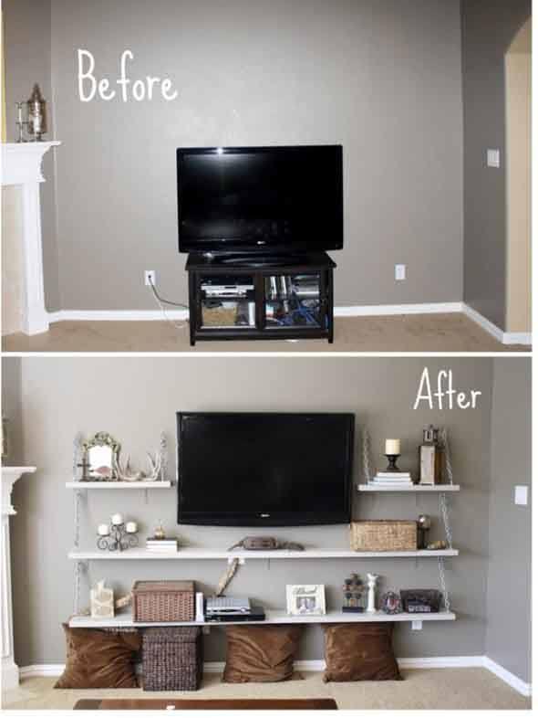 4 dicas para salas decoradas antes e depois