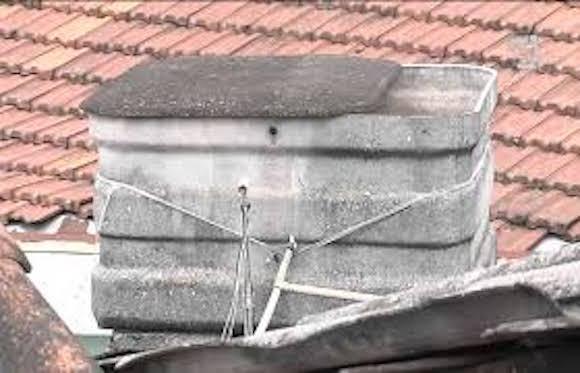 Limpeza caixa d'água de amianto